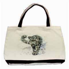 Snow Leopard 1 Basic Tote Bag (two Sides) by kostart