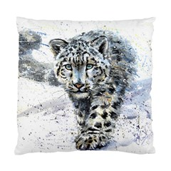 Snow Leopard 1 Standard Cushion Case (two Sides) by kostart