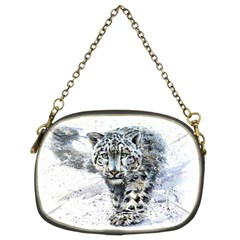 Snow Leopard 1 Chain Purses (two Sides)  by kostart