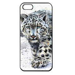 Snow Leopard 1 Apple Iphone 5 Seamless Case (black) by kostart