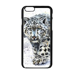 Snow Leopard 1 Apple Iphone 6/6s Black Enamel Case by kostart