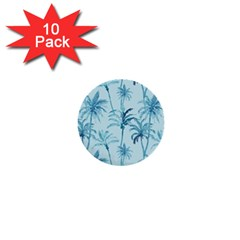 Watercolor Palms Pattern  1  Mini Buttons (10 Pack)  by TastefulDesigns