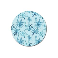Watercolor Palms Pattern  Magnet 3  (round) by TastefulDesigns