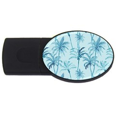 Watercolor Palms Pattern  Usb Flash Drive Oval (2 Gb) by TastefulDesigns