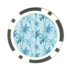 Watercolor Palms Pattern  Poker Chip Card Guard (10 Pack) by TastefulDesigns