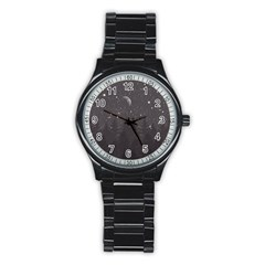 Night Full Star Stainless Steel Round Watch by berwies