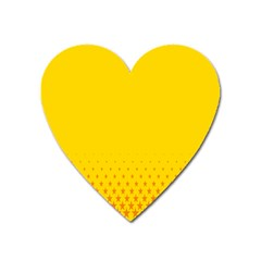 Yellow Star Light Space Heart Magnet by Mariart