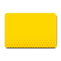 Yellow Star Light Space Small Doormat  by Mariart