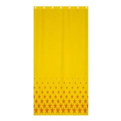 Yellow Star Light Space Shower Curtain 36  X 72  (stall)  by Mariart