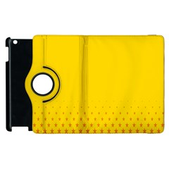 Yellow Star Light Space Apple Ipad 2 Flip 360 Case by Mariart