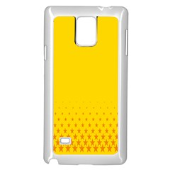 Yellow Star Light Space Samsung Galaxy Note 4 Case (white) by Mariart