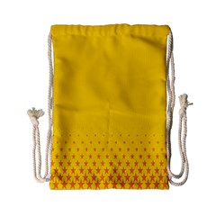 Yellow Star Light Space Drawstring Bag (small) by Mariart