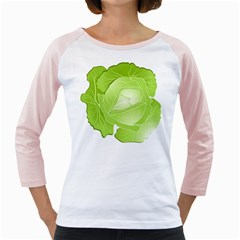 Cabbage Leaf Vegetable Green Girly Raglans by Mariart