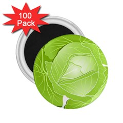 Cabbage Leaf Vegetable Green 2 25  Magnets (100 Pack)  by Mariart