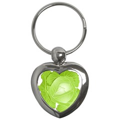 Cabbage Leaf Vegetable Green Key Chains (heart)  by Mariart