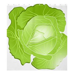Cabbage Leaf Vegetable Green Shower Curtain 66  X 72  (large)  by Mariart