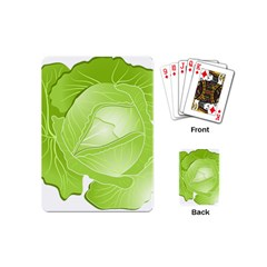 Cabbage Leaf Vegetable Green Playing Cards (mini)  by Mariart