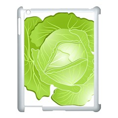 Cabbage Leaf Vegetable Green Apple Ipad 3/4 Case (white) by Mariart