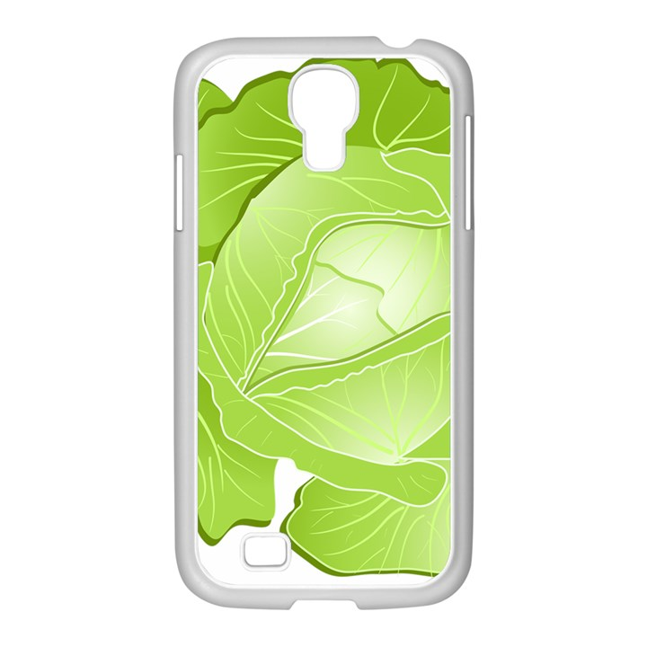 Cabbage Leaf Vegetable Green Samsung GALAXY S4 I9500/ I9505 Case (White)
