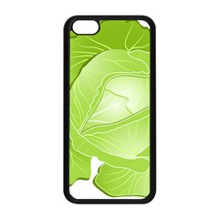 Cabbage Leaf Vegetable Green Apple Iphone 5c Seamless Case (black) by Mariart