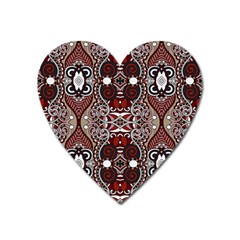 Batik Fabric Heart Magnet by Mariart