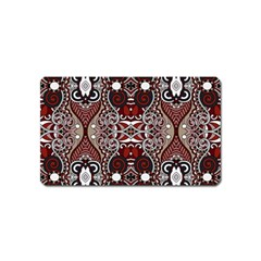 Batik Fabric Magnet (name Card) by Mariart
