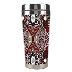 Batik Fabric Stainless Steel Travel Tumblers by Mariart