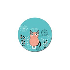Cat Face Mask Smile Cute Leaf Flower Floral Golf Ball Marker by Mariart