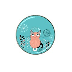 Cat Face Mask Smile Cute Leaf Flower Floral Hat Clip Ball Marker (4 Pack) by Mariart