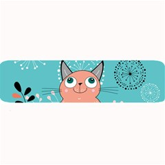 Cat Face Mask Smile Cute Leaf Flower Floral Large Bar Mats by Mariart
