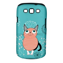 Cat Face Mask Smile Cute Leaf Flower Floral Samsung Galaxy S Iii Classic Hardshell Case (pc+silicone) by Mariart