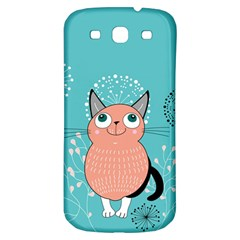 Cat Face Mask Smile Cute Leaf Flower Floral Samsung Galaxy S3 S Iii Classic Hardshell Back Case by Mariart