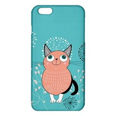 Cat Face Mask Smile Cute Leaf Flower Floral Iphone 6 Plus/6s Plus Tpu Case by Mariart