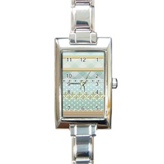 Circle Polka Plaid Triangle Gold Blue Flower Floral Star Rectangle Italian Charm Watch by Mariart