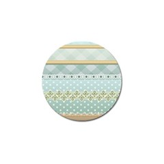 Circle Polka Plaid Triangle Gold Blue Flower Floral Star Golf Ball Marker by Mariart