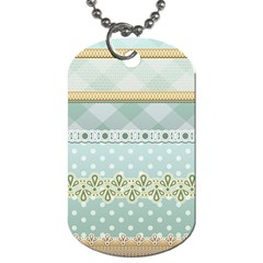 Circle Polka Plaid Triangle Gold Blue Flower Floral Star Dog Tag (two Sides) by Mariart