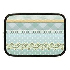 Circle Polka Plaid Triangle Gold Blue Flower Floral Star Netbook Case (medium)  by Mariart