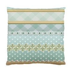 Circle Polka Plaid Triangle Gold Blue Flower Floral Star Standard Cushion Case (two Sides) by Mariart