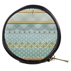 Circle Polka Plaid Triangle Gold Blue Flower Floral Star Mini Makeup Bags by Mariart
