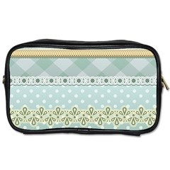 Circle Polka Plaid Triangle Gold Blue Flower Floral Star Toiletries Bags 2 Side by Mariart
