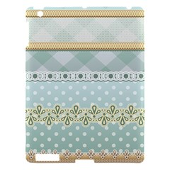 Circle Polka Plaid Triangle Gold Blue Flower Floral Star Apple Ipad 3/4 Hardshell Case by Mariart