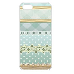 Circle Polka Plaid Triangle Gold Blue Flower Floral Star Apple Iphone 5 Seamless Case (white) by Mariart