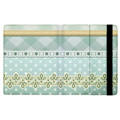 Circle Polka Plaid Triangle Gold Blue Flower Floral Star Apple Ipad 2 Flip Case by Mariart