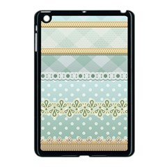 Circle Polka Plaid Triangle Gold Blue Flower Floral Star Apple Ipad Mini Case (black) by Mariart