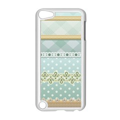 Circle Polka Plaid Triangle Gold Blue Flower Floral Star Apple Ipod Touch 5 Case (white) by Mariart