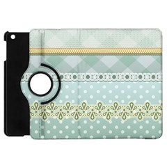 Circle Polka Plaid Triangle Gold Blue Flower Floral Star Apple Ipad Mini Flip 360 Case by Mariart