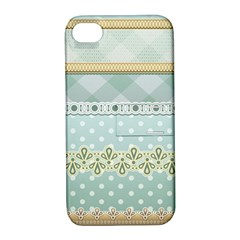 Circle Polka Plaid Triangle Gold Blue Flower Floral Star Apple Iphone 4/4s Hardshell Case With Stand by Mariart