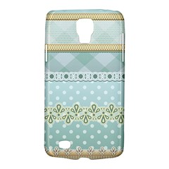 Circle Polka Plaid Triangle Gold Blue Flower Floral Star Galaxy S4 Active by Mariart