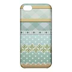 Circle Polka Plaid Triangle Gold Blue Flower Floral Star Apple Iphone 5c Hardshell Case by Mariart