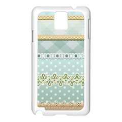 Circle Polka Plaid Triangle Gold Blue Flower Floral Star Samsung Galaxy Note 3 N9005 Case (white) by Mariart